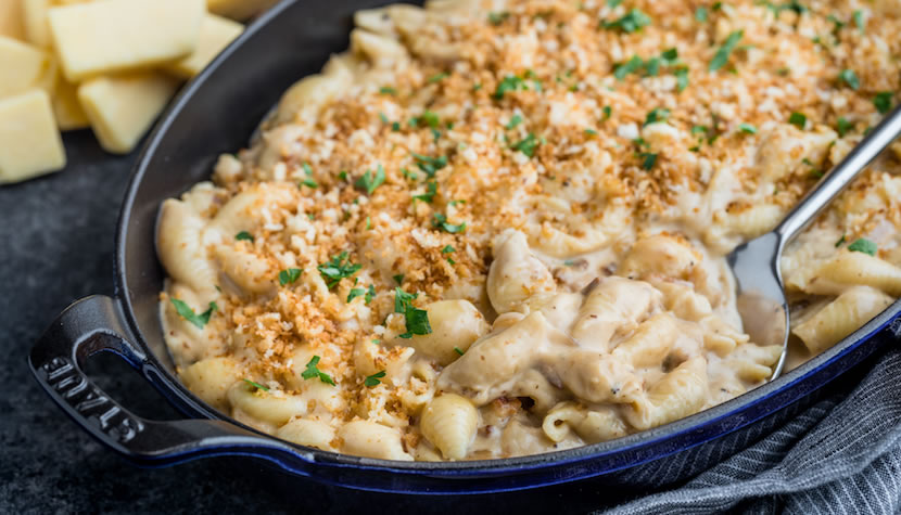 Cheddar Gouda Mac and Cheese