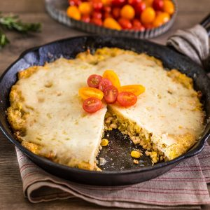 Cheddar Cheese Chicken Chile Verde Skillet