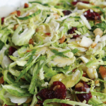 Shaved Brussel Sprout Salad with Parmigiano Reggiano e1539370183407