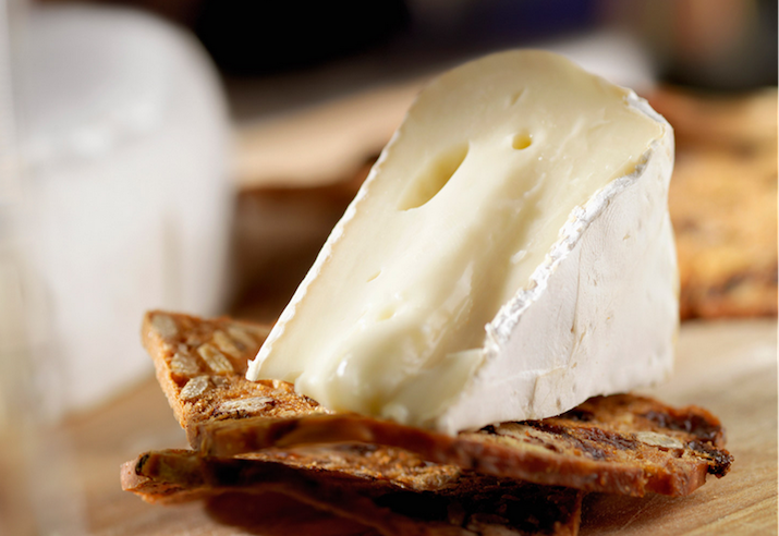 Brie on crackers
