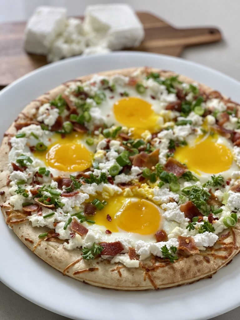 Breakfast Pizza with Farmers Cheese