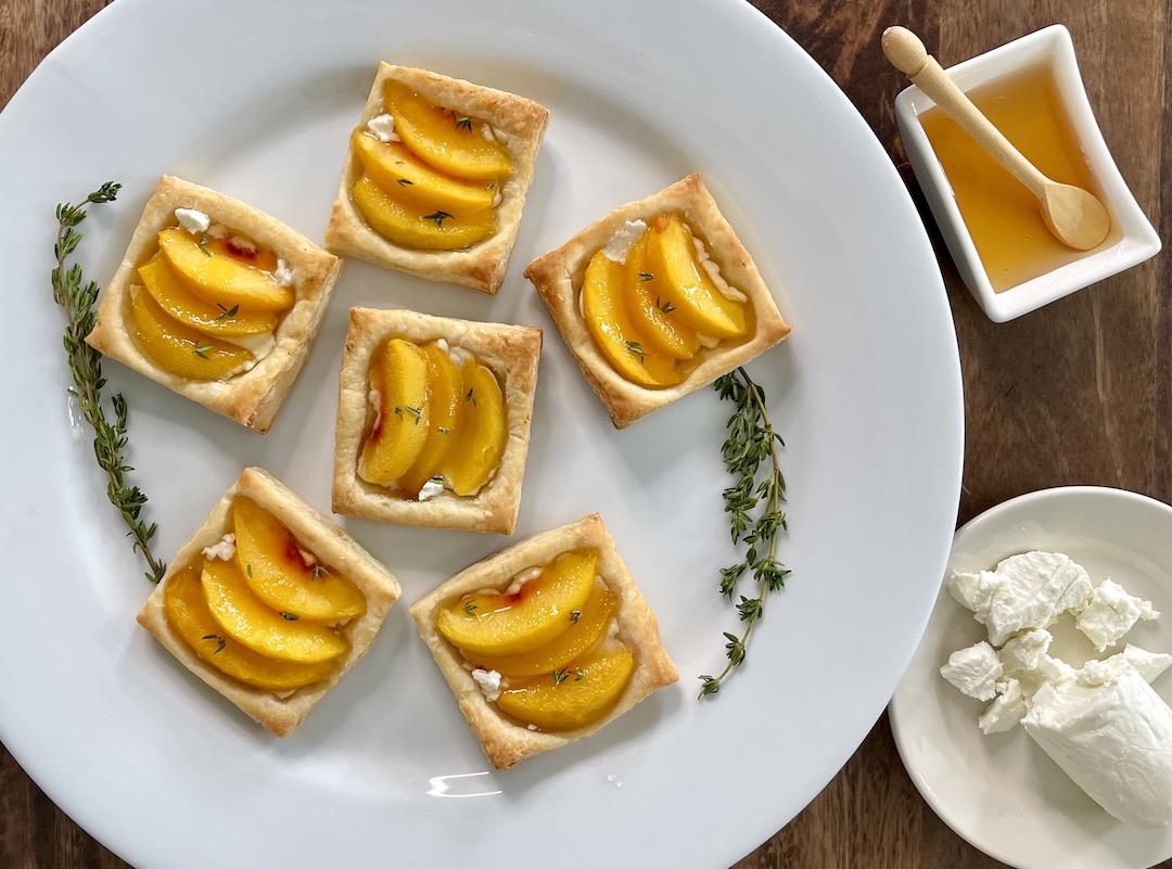 Peach Tarts w Goat Cheese Horizontal sm
