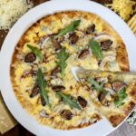 Four Cheese Pizza with Figs, Balsamic, & Arugula